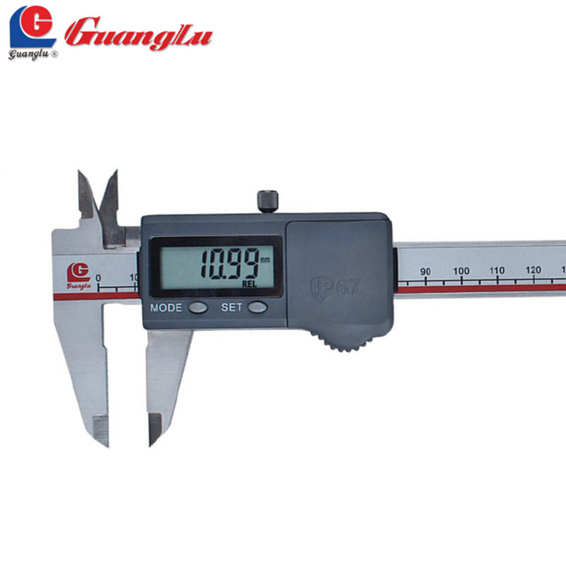 GUANGLU Digital Caliper IP67 Water-Proof 0-150/200/300mm Electronic Micrometer Vernier Caliper Measure Tools дополнительная фара gofl glare of light gl 0470 3311