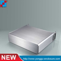 2U chassis Instrumentation aluminum shell Network communication cabinets Aluminum case / enclosure / DIY box337*89 250mm
