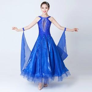 Image 4 - Современные танцевальные костюмы, Бальные Танцевальные Костюмы без рукавов, танцевальные костюмы для выступлений, большие качели, вальса, костюм для соревнований по танцу