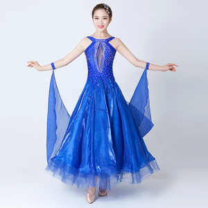 Image 4 - Modern Dance Costumes Sleeveless Ballroom Dancing Costumes Show Big Swing Waltz Dance Competition Costume