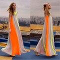 Vestidos De Festa 2016 Nova Moda Feminina Bohemian Vestido Longo tripulação Sem Mangas Pescoço Plus Size Emenda Praia Maxi Vestido Longo solto