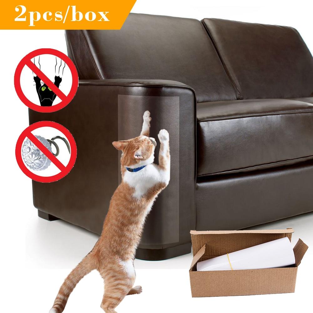 2 Stks/partij Sofa Kat Klauw Protector Self-adhesie Bescherm Pads Kat Krabpaal Meubels Beschermhoes Voor Lederen Stoelen