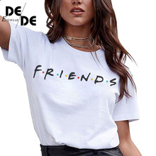 100% cotton friends tv tee shirt femme womens shirts women tshirt leopard t short sleeve 2019 new fashion