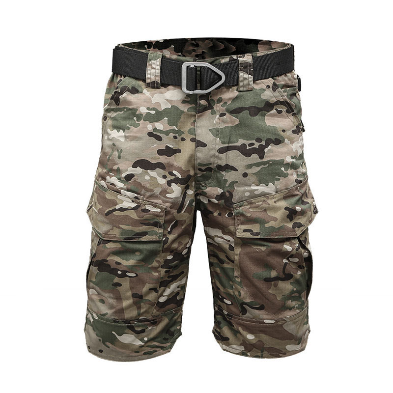 Summer Rip-stop Tactical Military Shorts Men Waterproof Camouflage Cargo Short Army Cargo Shorts Special Police Militar Clothing