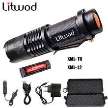 Z30 Litwod Mini Zoom cree XML L2 Flashlight Led Flashlight 5 mode 3800 Lumens waterproof 18650 Rechargeable battery