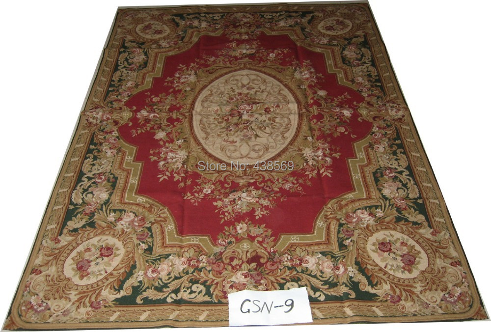 Free Shipping 10K 6X10 Needlepoint Carpetsbig Carpets For Living Room 100 New Zealand Wool Rugs Floral Design