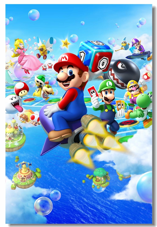 Custom Canvas Wall Decor Mario Party Island Tour Poster Super