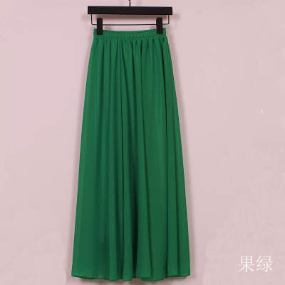 1b53ae53dd5e 2016 New Wholesale Women Chiffon Long Skirts Candy Color Pleated Maxi Women  Skirts 2016 Spring Summer