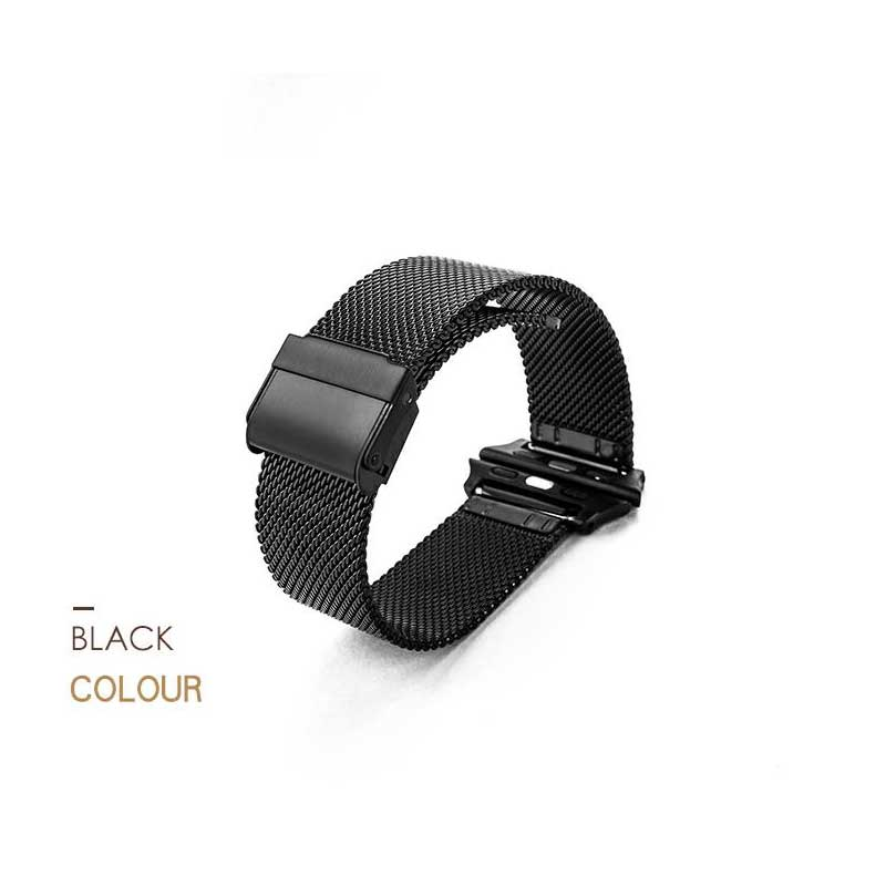 MEIKANGHUI Newest Stainless Steel Milanese Loop For Apple Watch band 42mm 38mm strap for iwatch 1 2 3 Link Bracelet