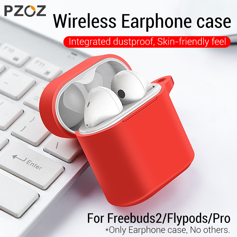 PZOZ Silicone Case For Huawei Freebuds 2 Pro Honor FlyPods Pro Bluetooth Earphone Soft Silicone Anti-slip Protective Cases Bags