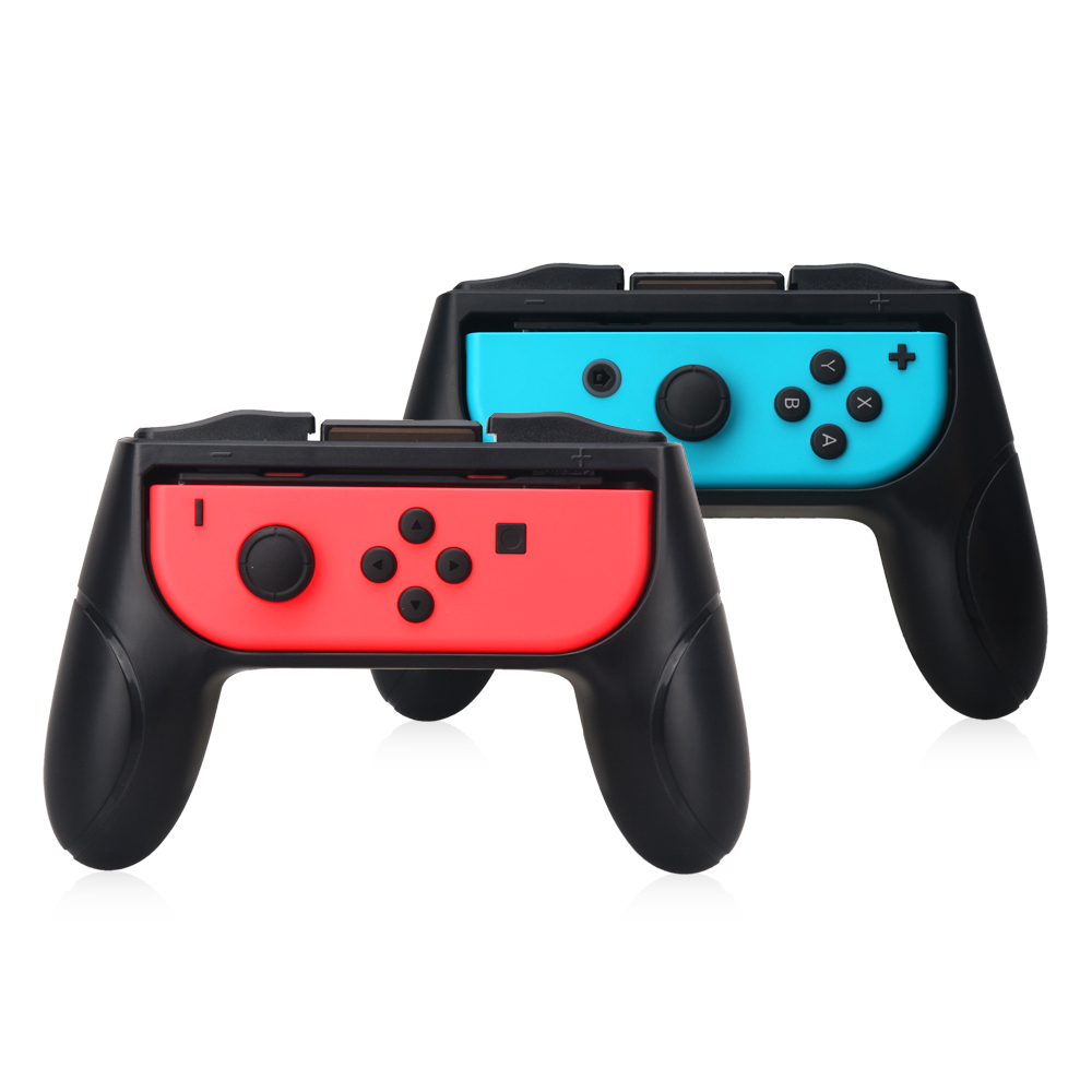 ViGRAND 2pcs black left and right Hand Grip Stand Holder for Nintend Switch Controller gamepad