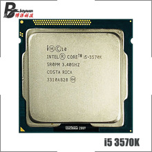 Intel processador quad core, processador intel core i5 3570K i5 3570k 3.4 ghz quad core cpu 6m 77w lga 1155