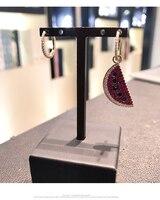 zoziri Fashion Long Statement watermelon Earrings Fruit Series Slices Semicircle Drop Earrings For Women monaco brand Jewelry