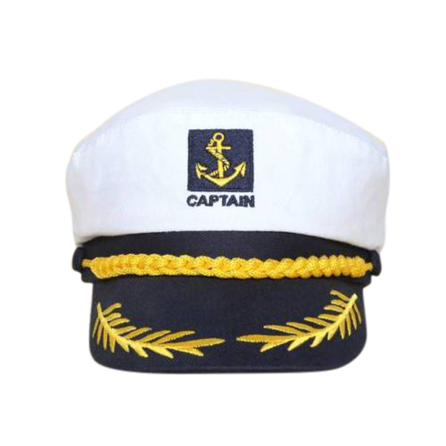 White Hats for Men Yacht Captain Navy Marine Skipper Ship Sailor Military  Nautical Hat Cap Costume Adults Party Fancy Dress-in Military Hats from  Apparel ... 3e07fe8970e