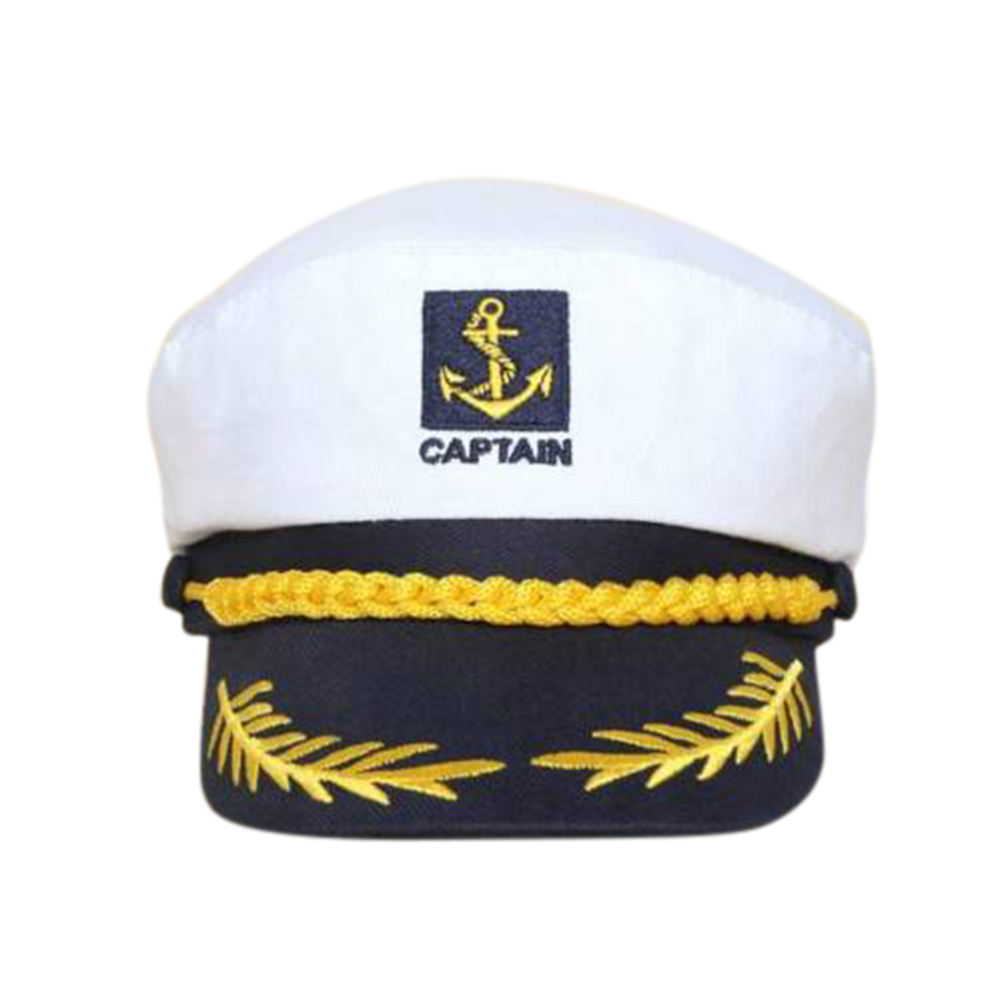 Adult Unisex WHITE Doughboy MARINE SAILOR HAT Fancy Dress Costume