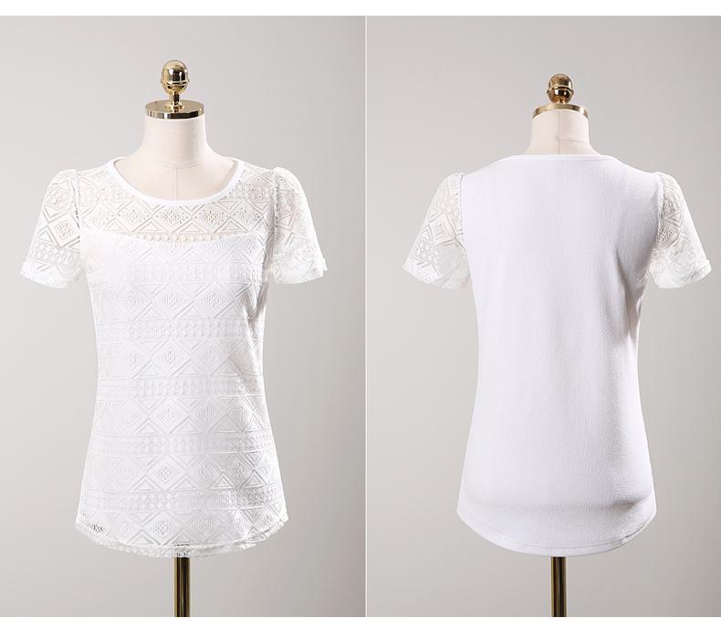 HTB1TAN3NFXXXXXVXVXXq6xXFXXXC - New women tops lace chiffon blouse korean office female clothing