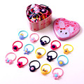 20pcs High Quality Hairwear Cartoon Baby Girl Elastic Hair Bands Ponytail Holder Hair Rope Kids Rubber Hair Bands Accessories