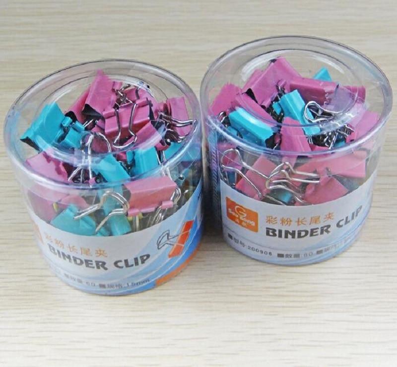60 шт./пакет 15 мм офисные канцелярские бочки цвет серьги-подвески с шипами папка для организации данных