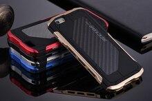 Ultra thin Sector PRO Metal Aluminum+Carbon Men's Cell Phone Cases For Apple iPhone 7 7plus 6 6s 6plus 6s plus Mobile Case Cover