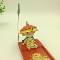 Commemorative Belt Knife Guardian Notes Clip Small Mud People's Special Craftsmanship to Send Foreigners Abroad Gifts