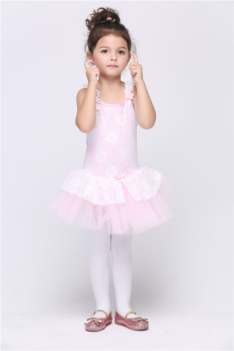 pink girl bubble ballet dance dress halloween stage performance cosplay costume fantasia vestido tutu dress kid - Halloween Ballet Costumes