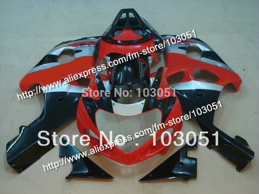 Injection molded for 2000 SUZUKI GSXR 1000 fairings K2 2001 2002 GSXR 1000 fairing 00 01 02 red with glossy black Dn69  new hot moto parts fairings for suzuki gsxr1000 00 01 02 black injection fairing kit gsxr 1000 2000 2001 2002 ju115