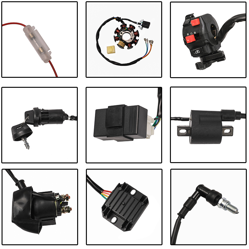 detail feedback questions about tdpro full electrics wiring harnessWiring Harness 200 250cc Loom Pit Dirt Bike Hummer Link Xmoto Atomik #21