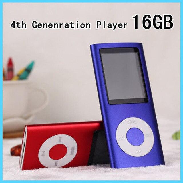 Nuevo cuarto jugador de la Gen 16 GB 1.8 pulgadas de Pantalla Lcd Reproductor MP3 Viene con 16G De Memoria Y Grabadora de Voz/FM Función de Radio de Música Multimedia jugador