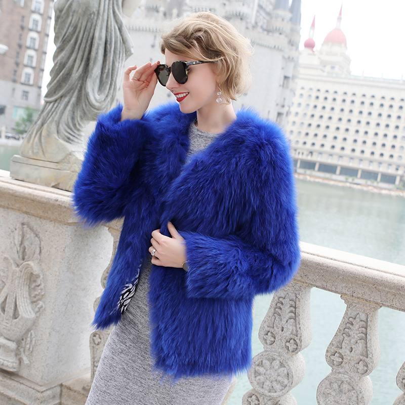Luxury Women\'s Coat Jackets Real Fox Fur Jackets For Girls Natural Fox Fur Outerwear Female Winter Coats Warm (5)