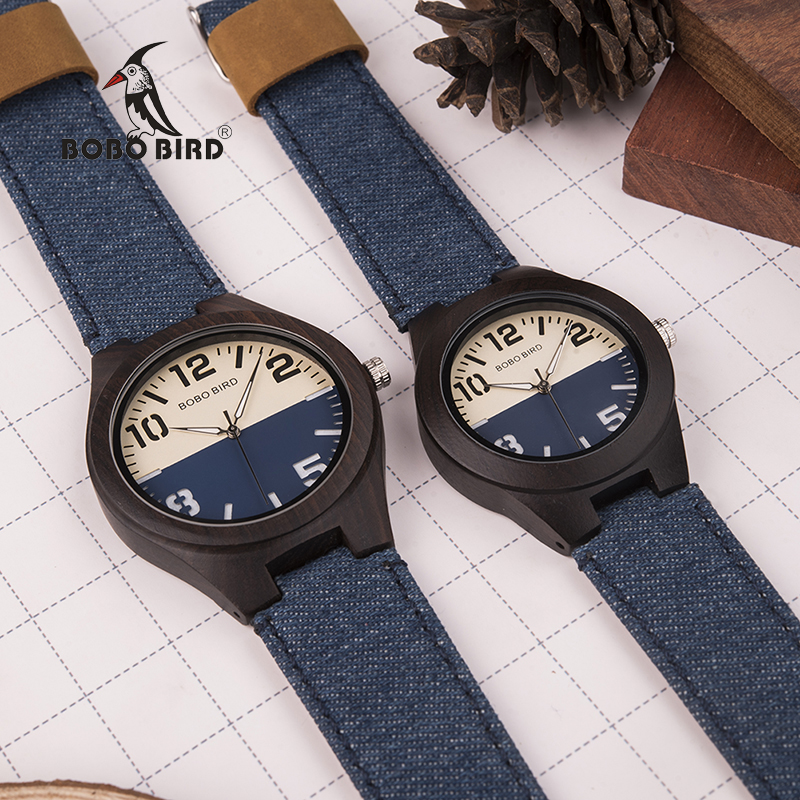 BOBO BIRD Men Women Lovers Quartz Watches Wood Luxury Ladies Wristwatch As Gift Relogio Masculino In Wooden Box V-R29