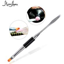 Nail Pen Woman Long Nails Double Head Stainless Steel Manicu