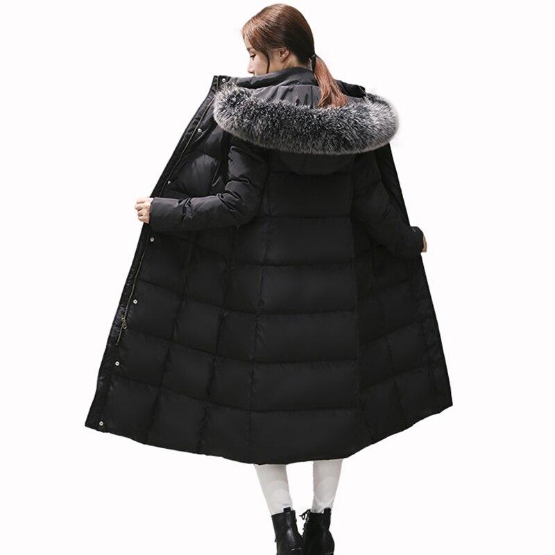 Faux 2017 Slim Col Parka Veste Noir army Vestes Chaud De Fourrure Green Capuchon Femmes Épais Long Coton Parkas gris Manteau À Outwear D'hiver Hiver Ac288 vErPqxwv
