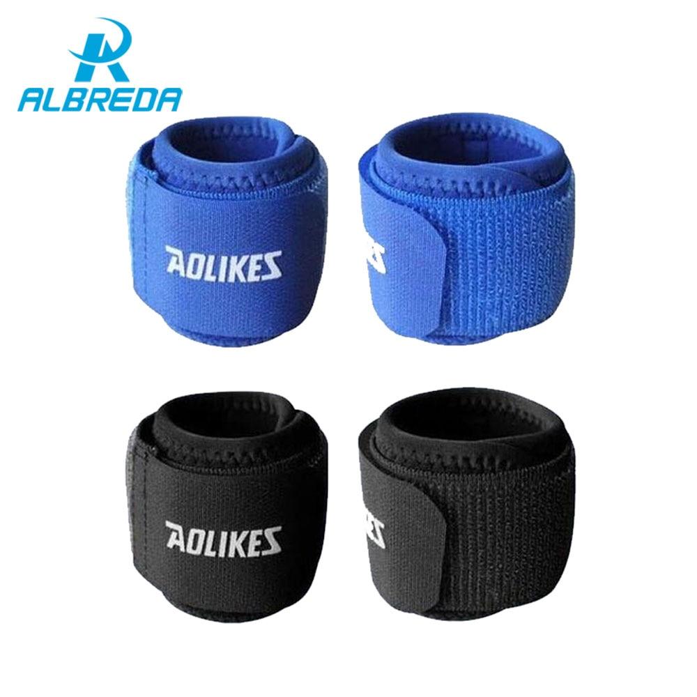 ALBREDA 1pc Adjustable sport cotton elastic bandage hand sport wristband gym support wrist brace Fitness Training Safety Protect