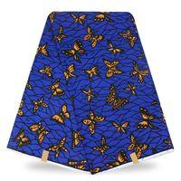 Popularna konstrukcja super wosk tkaniny bawełniane wosk drukowanych tkanin Afrykańskiego wosku ankara drukuj odzież materiał (6 m/lot)! tqd-4-19
