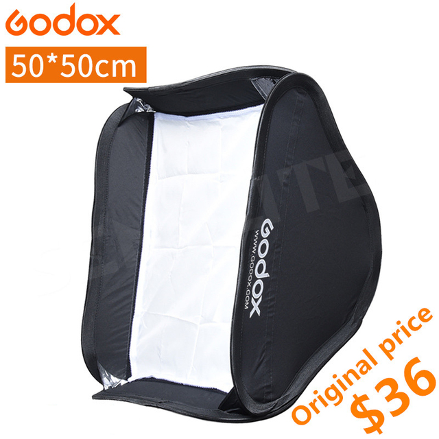 Godox Softbox 50x50 cm Diffuser Reflector for Yongnuo Godox Speedlite Flash Light Fit Bowens Elinchrom Mount 50*50 Soft Box