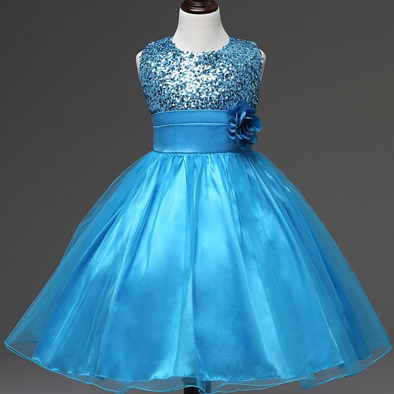 10 color 2017 fashion sequin flower girl wedding dress for Floral wedding dresses with color