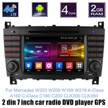 For Mercedes BENZ W203 W209 W169 W219 A Class A160 C Class C180 C200 CLK200 CLK350 Car DVD GPS Quad Core Touch
