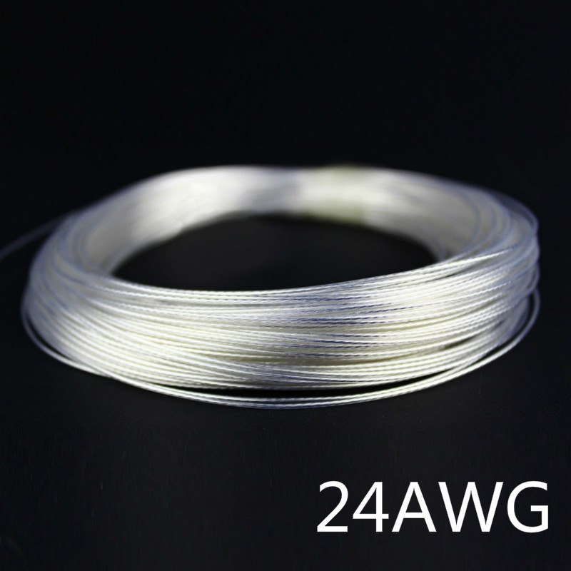 5/10/50/100 meters 24AWG Silver Plated Cable Teflon OD 1.1mm Audio Earphone Cable Headphone High Temperature Wire Cord 7 Colors5/10/50/100 meters 24AWG Silver Plated Cable Teflon OD 1.1mm Audio Earphone Cable Headphone High Temperature Wire Cord 7 Colors