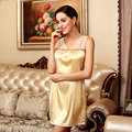The New Sexy Temptation Women Nightwear Summer Style Silk Nightgown Home Dress Sweet Four Colors Optional Elegant Nightdress