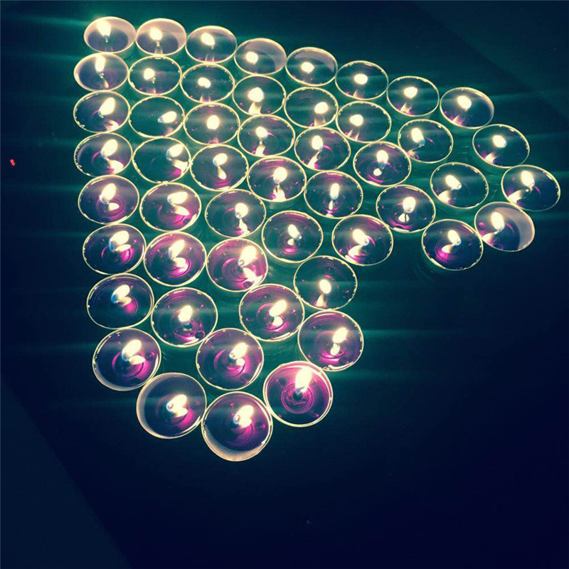 Systematic 24pcs Glass Cups/50pcs Aluminum Cups Aromatherapy Tea Lights Candles Set Coloured Jelly Scented Candles For Wedding Party Home & Garden Home Decor