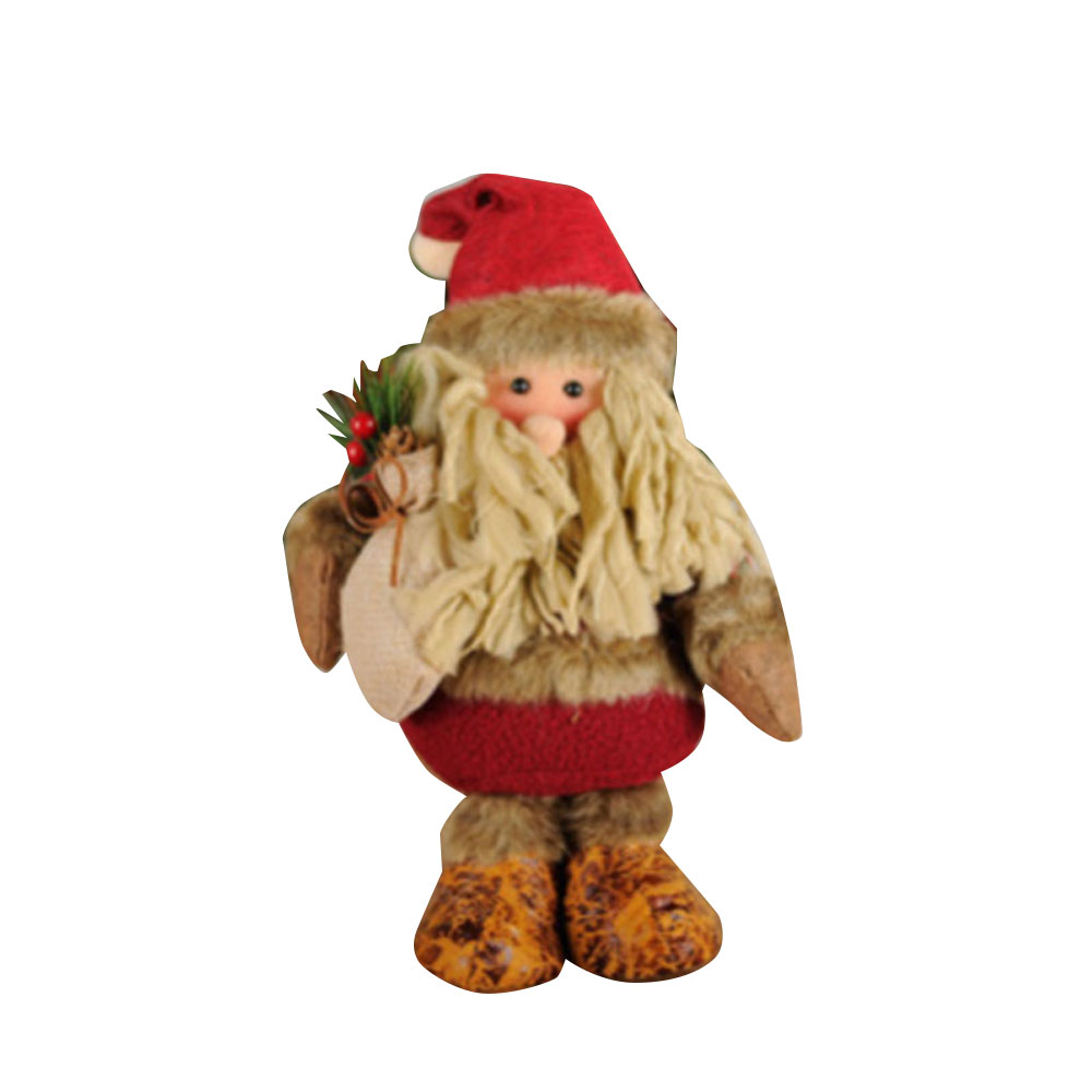 Christams Tree Decoration Plush Doll Toy Old Man Elk Ornaments Novelty
