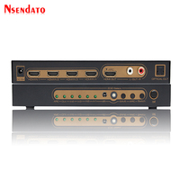 4k HDMI Switcher 4x1 With ARC EDID SPDIF RCA 4 Port Optical Digital HDMI Audio Switcher Converter Support DTS Dolby LPCM 5.1CH