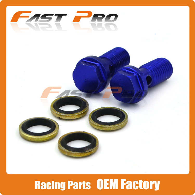 Blue Billet Brake Cluth Radiator Hose Banjo Bolts Fitting Adaptor M10 x 1.25 Motorcycle Dirt Pit Bike Street Bike ATV Quad meziere wp101b sbc billet elec w p