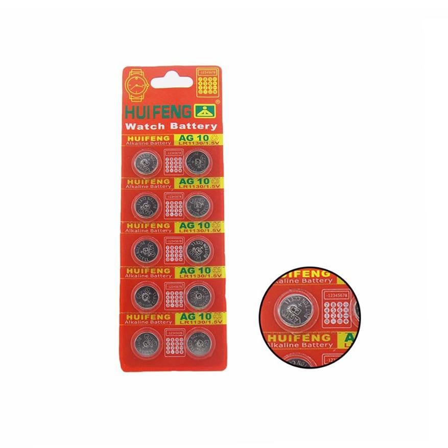 20pcs LR54 LR1130 AG10 G10 Button Battery Watch Calculator Battery