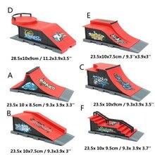 все цены на DIY 1PC A-F Site Skate Park Ramp Parts For Fingerboard Finger Board Ultimate Parks Boys Games Adult Novelty Items Children Toys онлайн