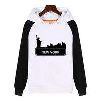 New York City Skyline Hoodies men women Sweatshirt Streetwear Clothes Thick Hoodie Clothing Tracksuit Sportswear GA357