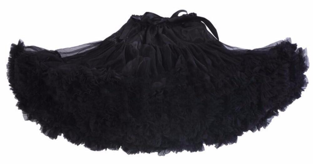 Petticoat lolita Woman Ruffle Tulle Puffy Underskirt Tutu Short Mini - Bruiloft accessoires - Foto 5