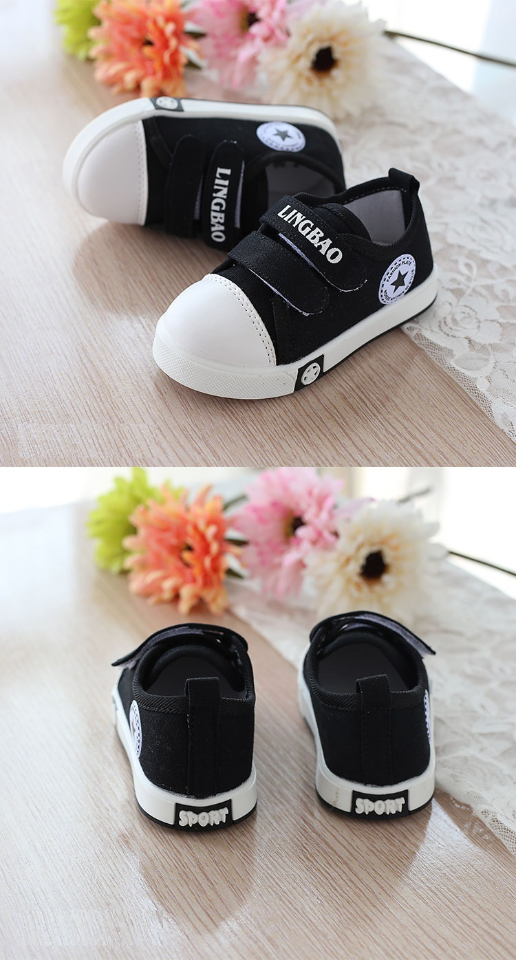 Kids Casual Shoes Autumn Fashion Stars Children Sneakers for Baby boys girls Canvas shoes 17 New Spring size 21~30 8