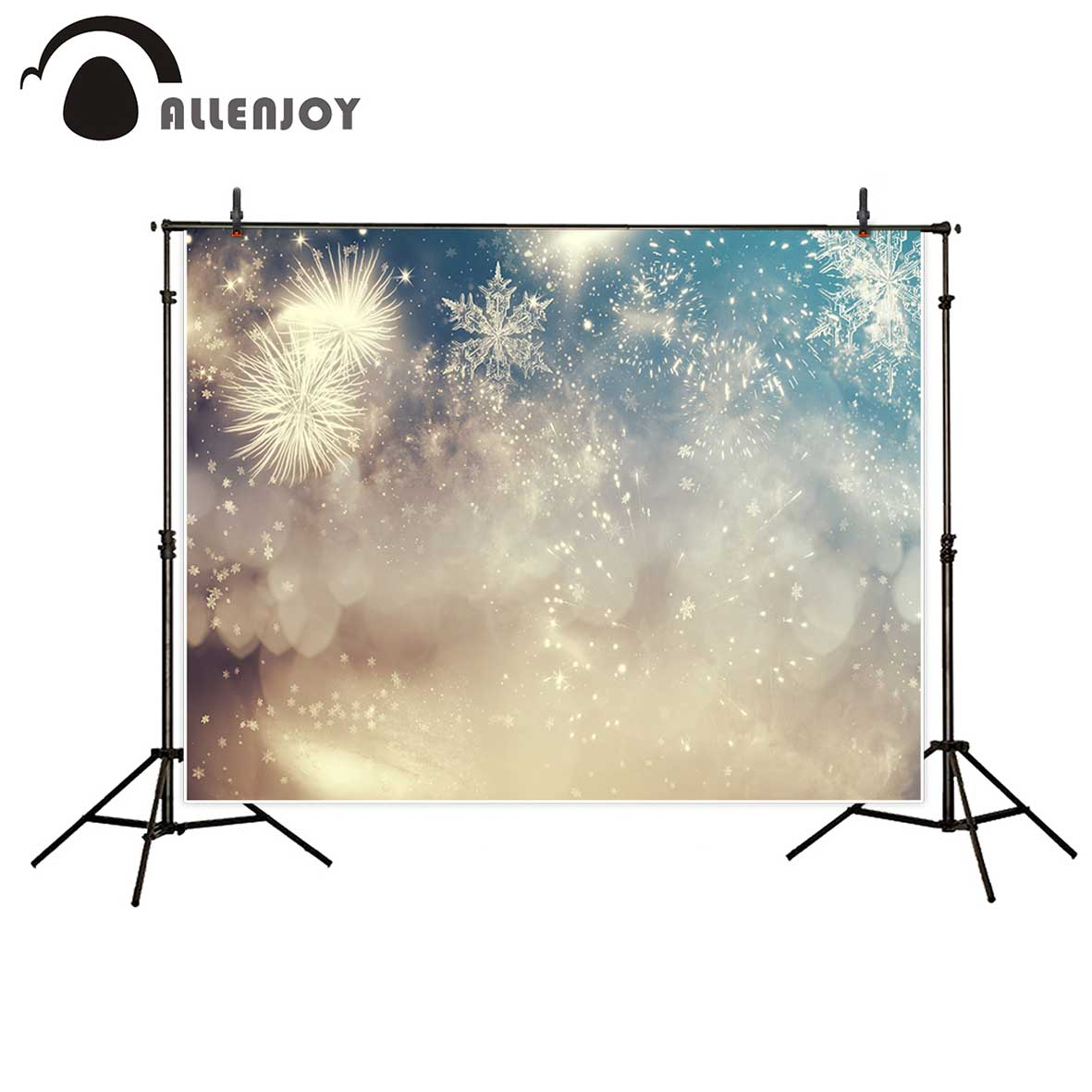 Allenjoy photography backdrop snowflake bokeh Christmas party professional background photobooth photographic studio