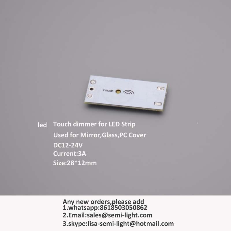 20 sztuk / partia Dotykowy ściemniacz LED do listew LED DC12-24V 3A